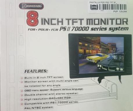 """PANTALLA PER PS2 TFT 8"""""""