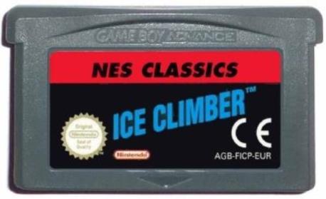 ICE CLIMBER GBA CART.